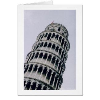 Leunende Toren van Pisa, Italië Wenskaart