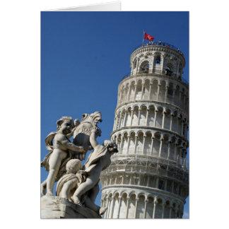 Leunende Toren van Pisa Notitiekaart