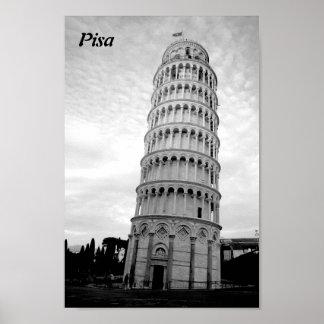 Leunende toren van Pisa Poster