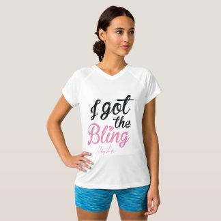 """Leven van Bling """"ik kreeg"""" v-Hals Bling Overhemd T Shirt"""