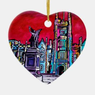 Levend Belfast - de Universiteit van het Queens Keramisch Hart Ornament