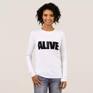 Levend - lang het sleeveoverhemd van Vrouwen T Shirts