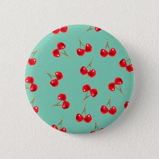 levendige kersen ronde button 5,7 cm