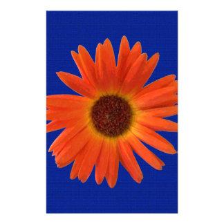 Levendige Oranje en Gele Gerbera Daisy in Briefpapier