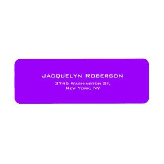 Levendige Violette Duidelijke Elegante Eigentijdse Etiket