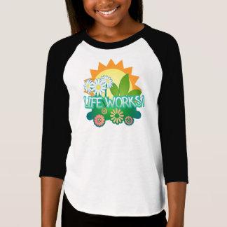Levenswerken! Raglan van meisjes T-shirt