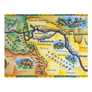 Lewis & de Kaart van de Expeditie van Clark