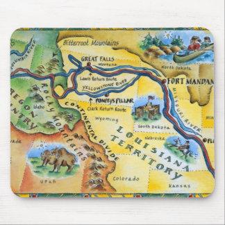 Lewis & de Kaart van de Expeditie van Clark Muismat