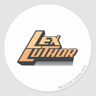 Lex Luther - Twee Lijnen Ronde Sticker