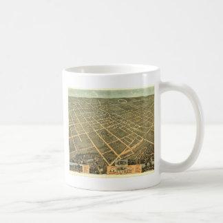 Lexington KY 1871 Antiek Panoramische Kaart Koffiemok