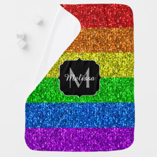 LGBT Monogram van vlag het trillende fonkelingen Inbakerdoek