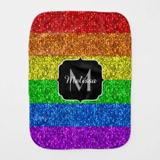 LGBT Monogram van vlag het trillende fonkelingen Spuugdoekje