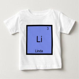 Li - het T-shirt van Linda Chemistry Element