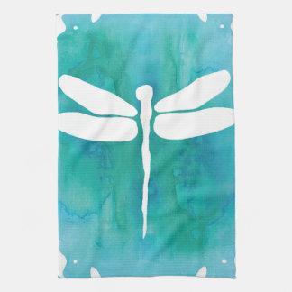 Libellen Aqua van de Waterverf van de libel de Theedoek