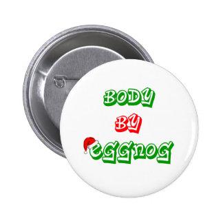 Lichaam door eierpunch ronde button 5,7 cm