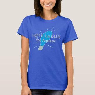 Licht het omhoog BLAUW voor Autisme! T Shirt