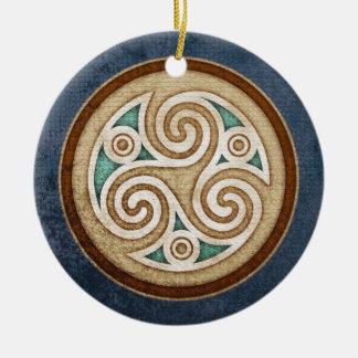 Licht Tegenhanger Triskele/Ornament Rond Keramisch Ornament