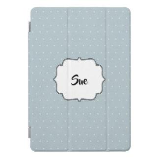 Lichtblauw en Stip met Naam iPad Pro Cover