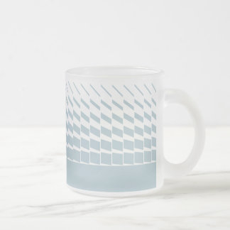 Lichtblauwe geometrische kinetische kunstgrafiek matglas koffiemok