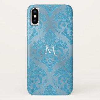 Lichtblauwe iPhone X van het Monogram van het