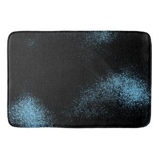 Lichtblauwe Melkweg in Zwarte Ruimte Badmat