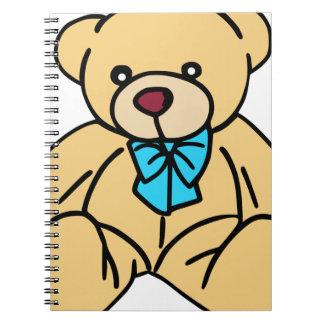 Lichtbruine Traditionele Teddybeer Notitieboek