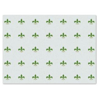 lichte Achtergrond met Green Fleur DE Lis 43,18 X 58,42 Cm Zijdepapier