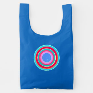Lichte kleuren geschilderde cirkels herbruikbare tas