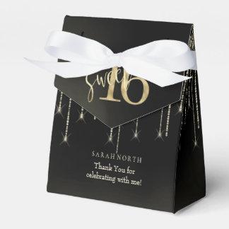 Lichten & Ballons Zoete 16 Zwarte/Gouden ID473 van Bedankdoosjes