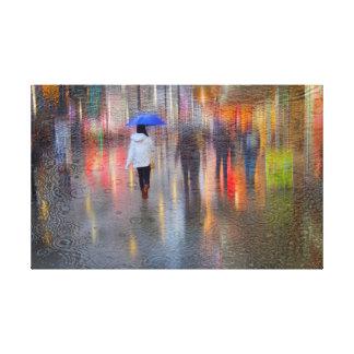 Lichten en het Regenachtige Canvas van Nachten