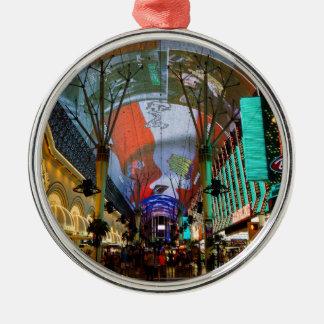 Lichten van Straat Fremont Zilverkleurig Rond Ornament