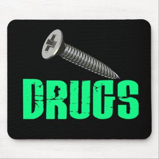 Lichtgroene de Drugs van de schroef Muismatten