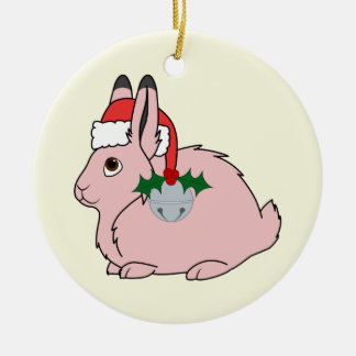 Lichtrose NoordpoolHazen - het Pet van de Kerstman Rond Keramisch Ornament