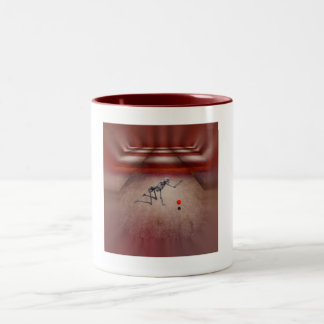 Lid van de linkervleugel tweekleurige koffiemok