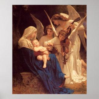 Lied van de Engelen William Bouguereau Fine Art Poster