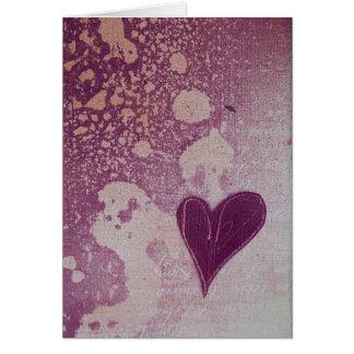 Liefde 14 van O van het blok Valentijnse Kaart