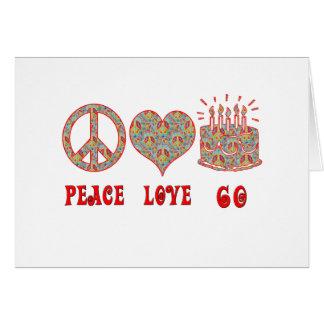 Liefde 60 van de vrede briefkaarten 0