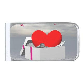Liefde als 3D gift - geef terug Verzilverde Geldclip