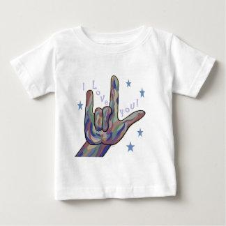 Liefde ASL I u de Kleuren van het Denim en van de Baby T Shirts