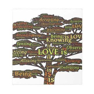 liefde attributen notitieblok