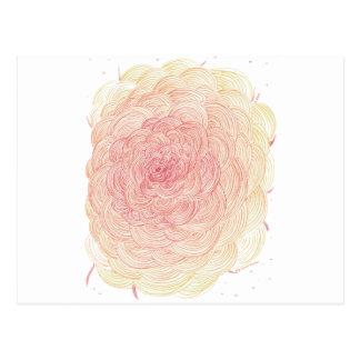 Liefde, bloem, en hart voor goede karma briefkaart