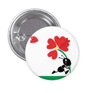 liefde bloem ronde button 3,2 cm