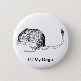 Liefde Degus - Spelden Ronde Button 5,7 Cm