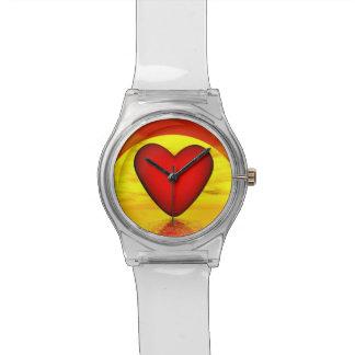 Liefde door 3D zonsondergang - geef terug Horloge