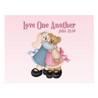 Liefde elkaar briefkaart