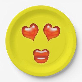 Liefde Emoji Papieren Bordje