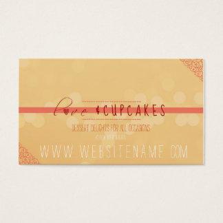 liefde en cupcakes visitekaartjes