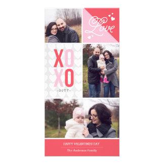 Liefde en de Foto Valentijn van Omhelzingen Persoonlijke Fotokaart