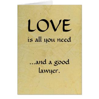 Liefde en een Goede Advocaat Briefkaarten 0
