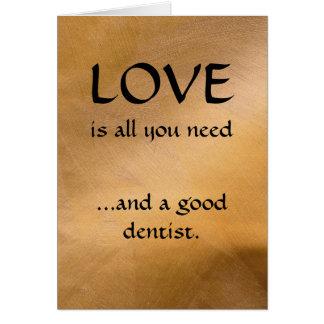 Liefde en een Goede Tandarts Wenskaart